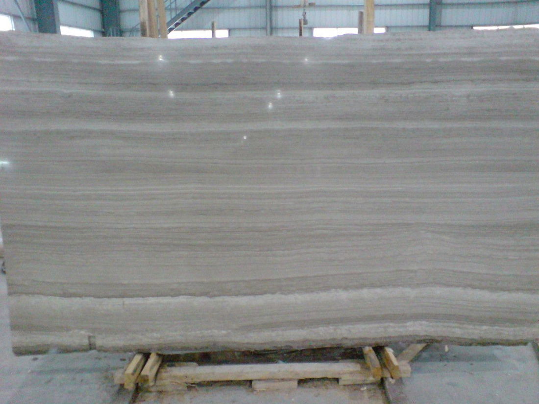 Polished Grey Wooden Marble Slabs Chinese Marble Slabs