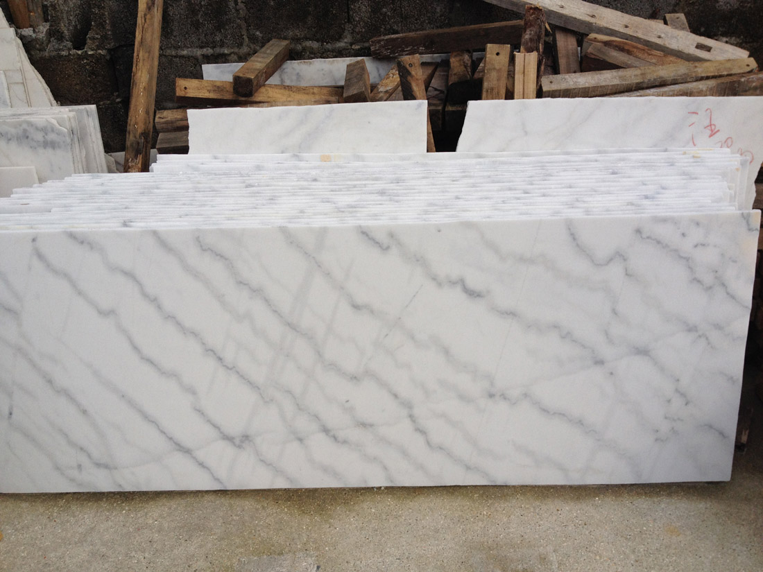 Polished Guangxi White Marble Small Slabs