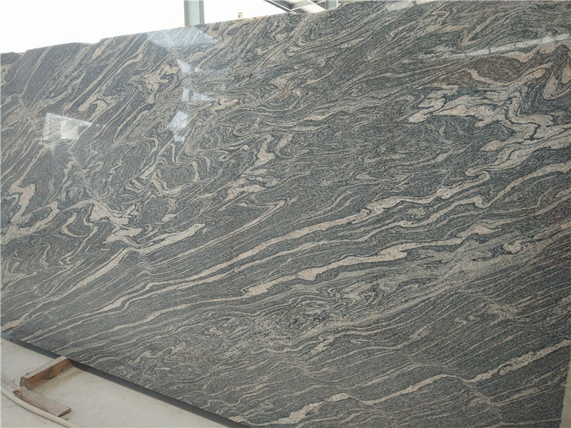 Polished Hubei Juparana Granite Slabs Grey Granite