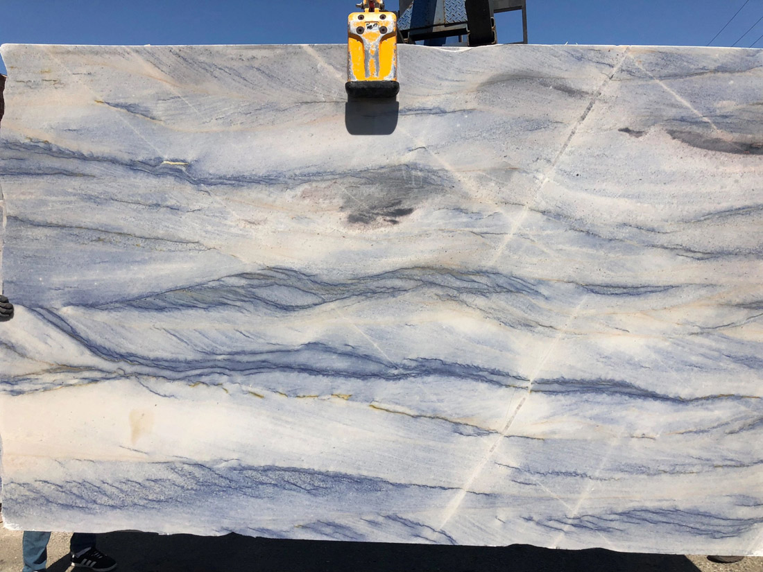 Polished Imperial Blue Quartzite Slabs for Kitchen Countertops