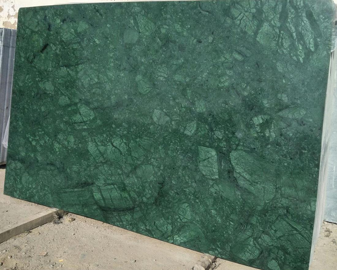 Polished India Green Verde Ming Marble Slab