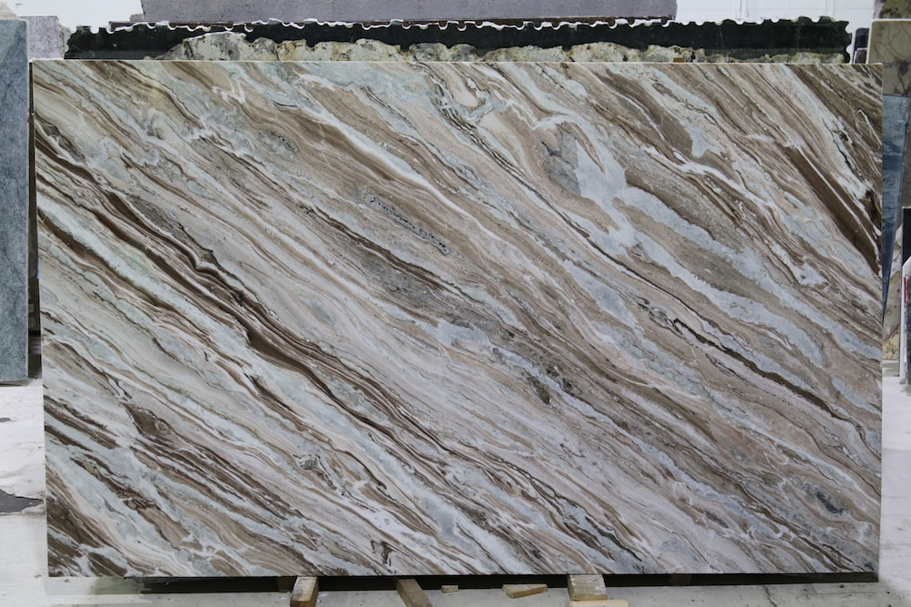 Polished Indian Brown Marble Slabs Fantasy Marble