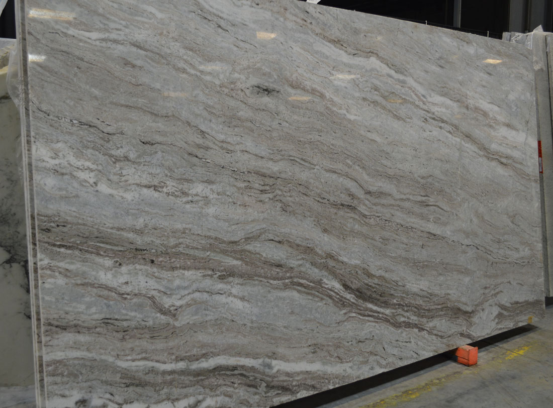 Polished Indian Fantasy Brown Marble Slabs for Countertops