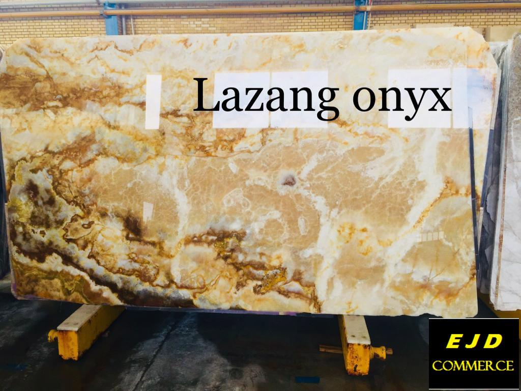 Polished Iraian Onyx Slabs Beige Onyx Slabs