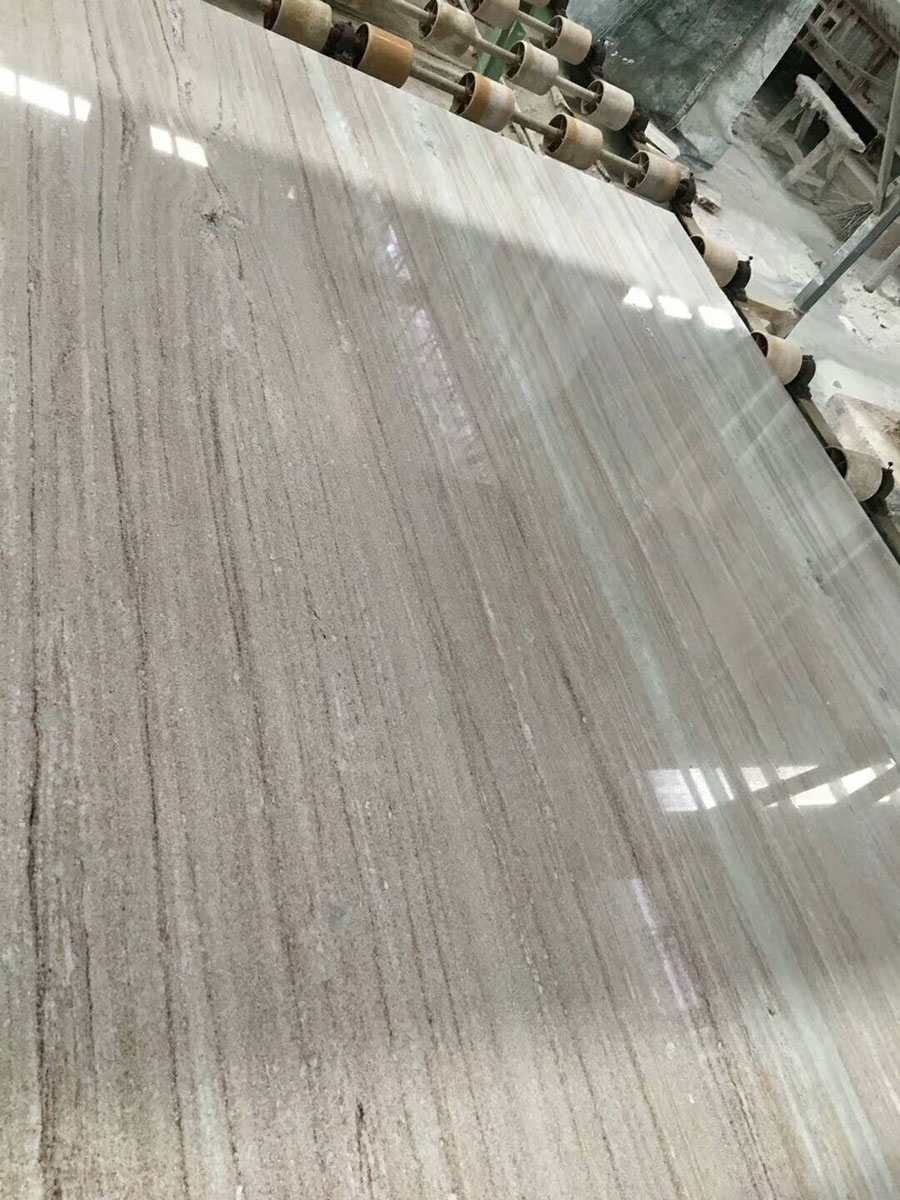 Polished Italy Grey Marble White Sands Marble Slabs
