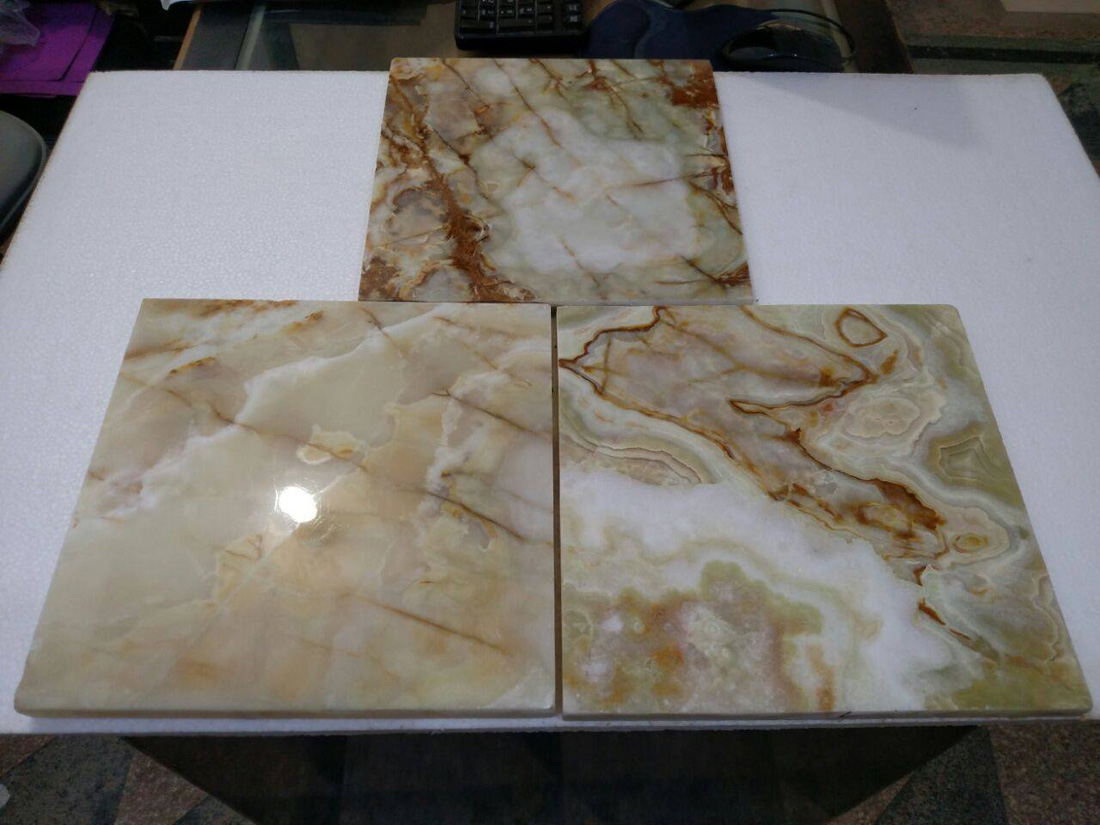 Polished Light Multi Green Onyx Tiles