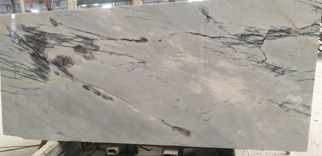Polished Lilac Marble White Slabs Turkish Marble Slabs