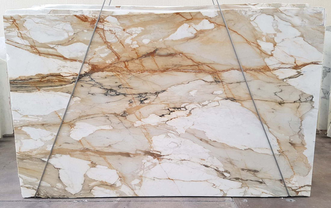 Polished Macchia Vecchia Marble Slabs from Spain