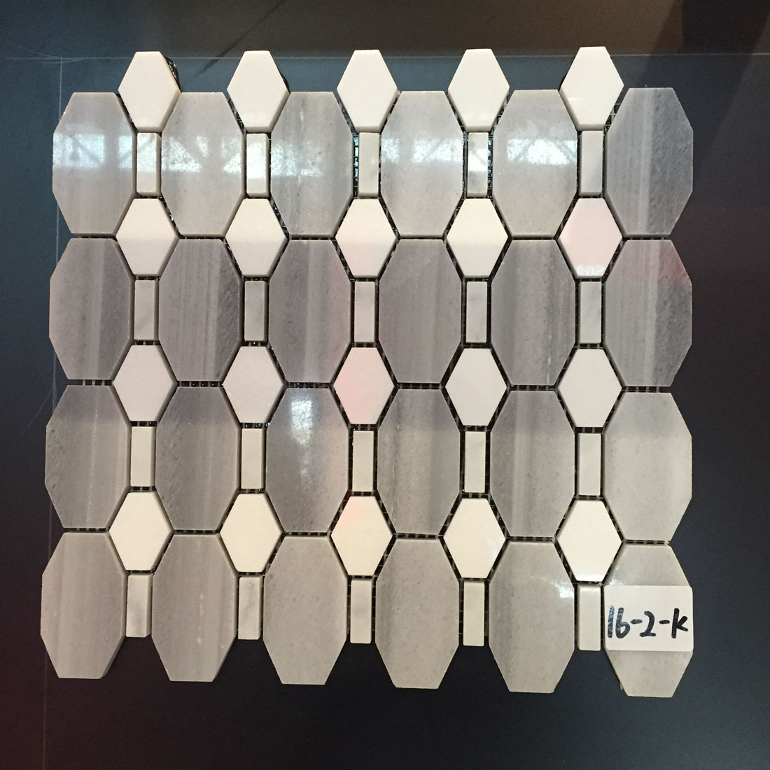 Polished Marble Mosaic Pattern