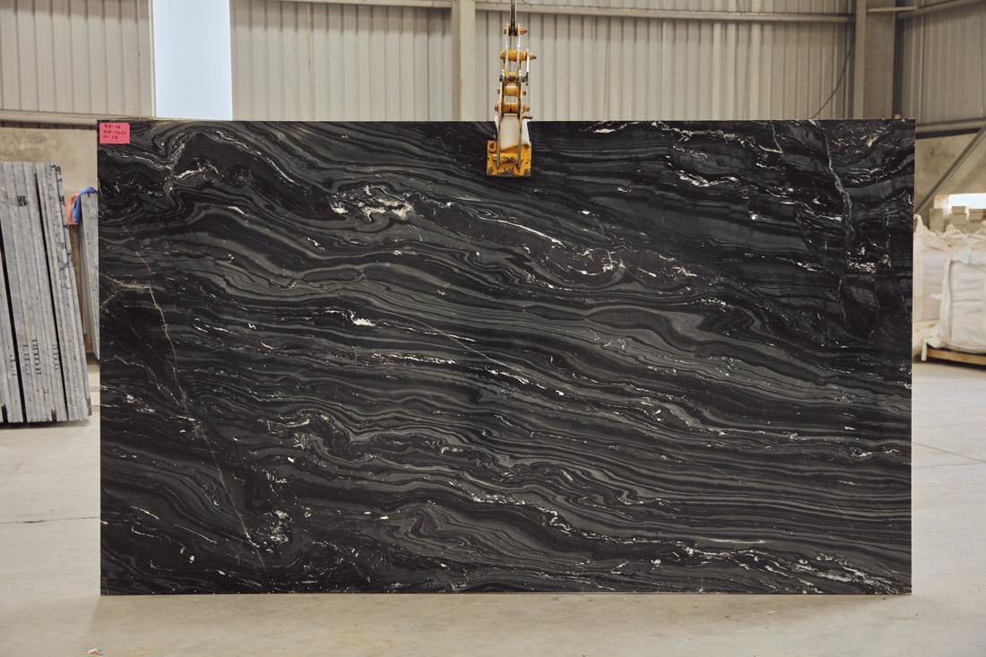 Polished Marble Slabs Black Fantasy Marble Slabs