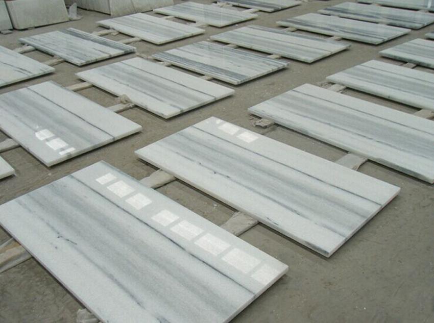 Polished Marmara White Marble Tiles Marble Flooring Stone Tiles