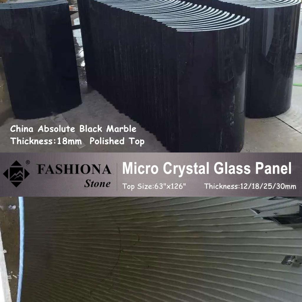 Polished Micro Crystal Glass Stone Columns