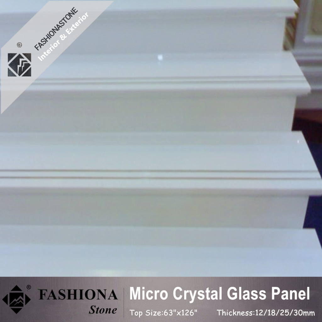 Polished Micro Crystal Glass Stone Stair