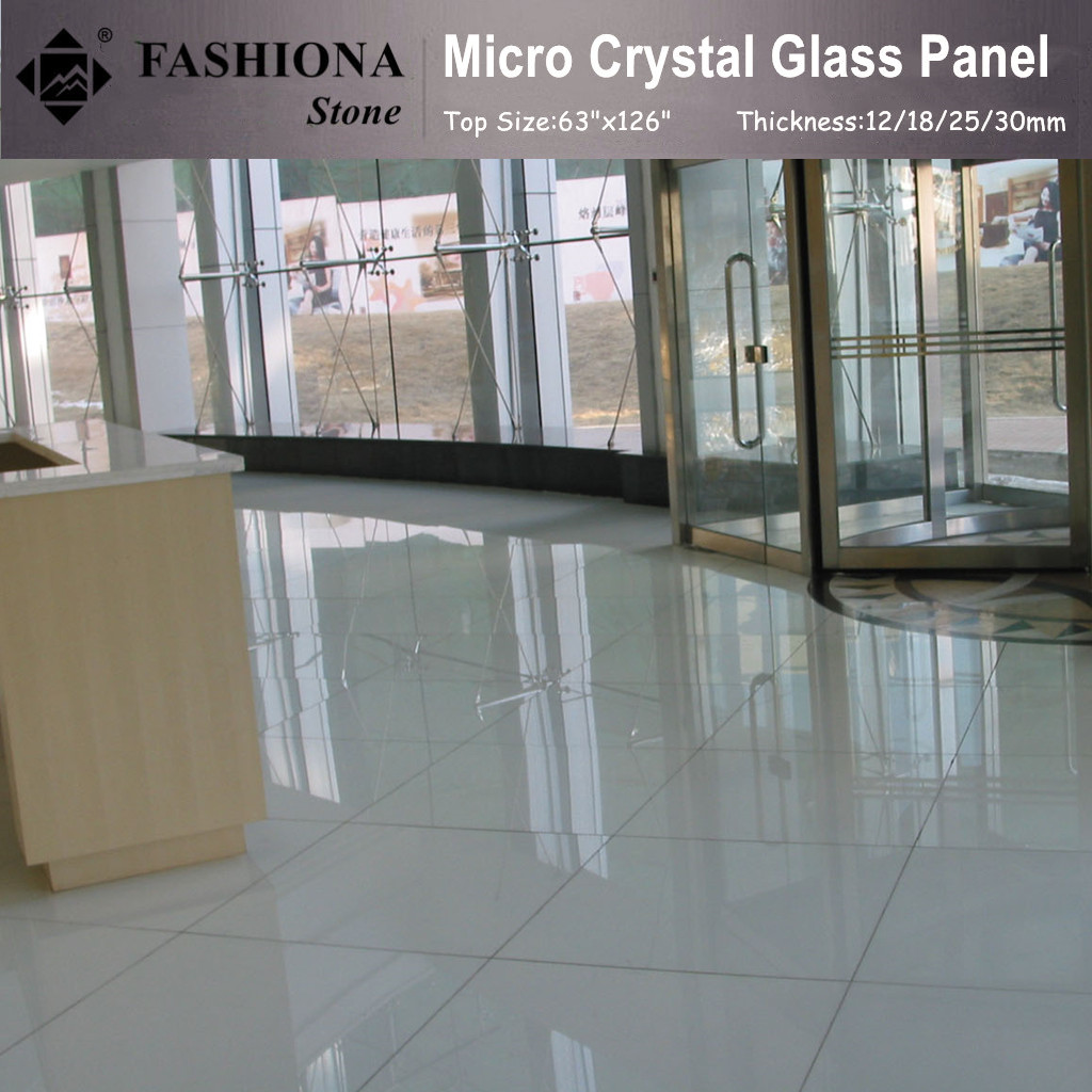 Polished Micro Crystal Glass Stone Tiles-for Flooring