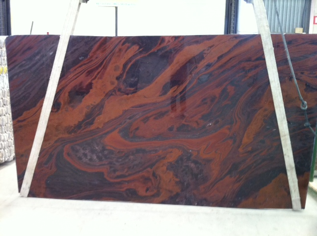 Polished Mirage Red Quartzite Slabs