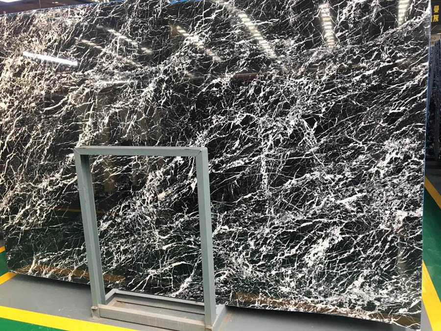 Polished Natural Stone Forest Black Marble from China
