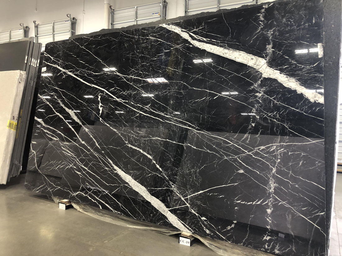 Polished Negro Marquina Marble Slabs