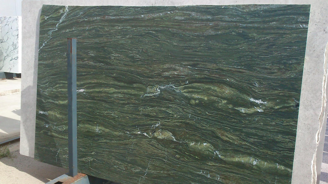 Polished Oasis Green Marble Slabs