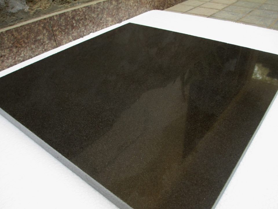 Polished Ocean Black Granite Tiles from Pakistan