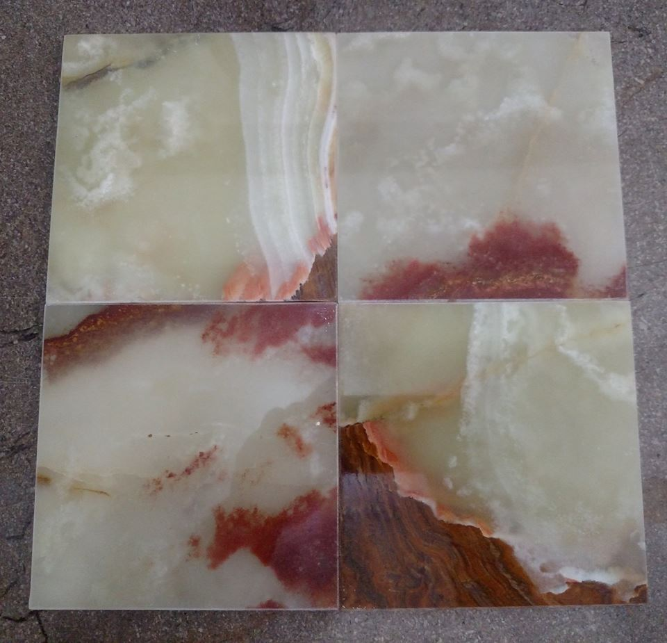 Polished Onyx Tiles from Pakistan