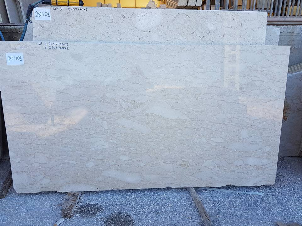 Polished Perlatino Super Slabs Beige Marble Slabs