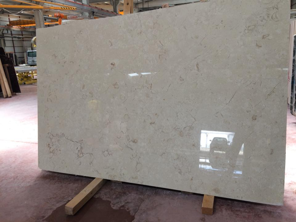 Polished Perlato Beige Marble Slabs