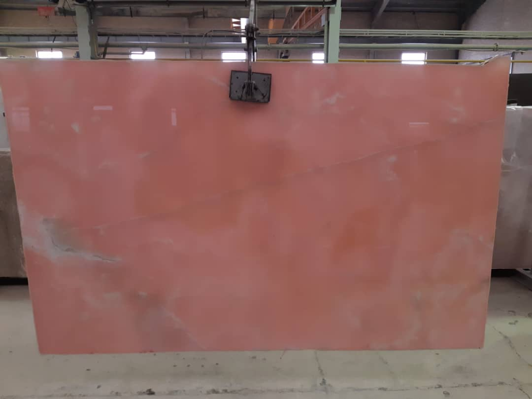 Polished Pink Onyx Slabs Iranian Nice Onyx Products
