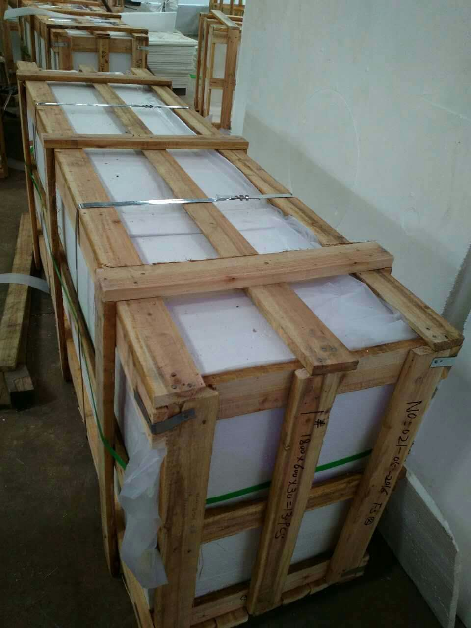 Polished Pure White Nano Glass Stone Slabs