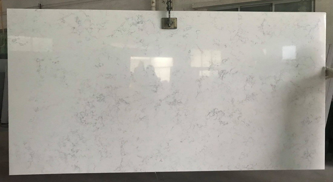 Polished Quartz Slabs White Artificial Stone Slabs