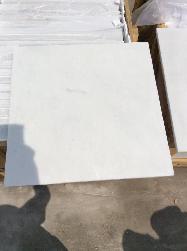 Polished Queen White Marble Tiles for Flooring