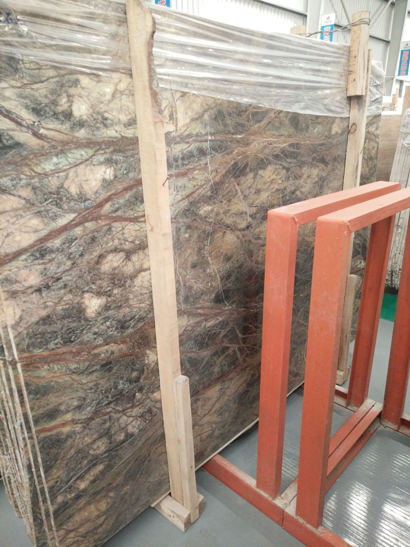 Polished Rain Forest Green Marble Slabs