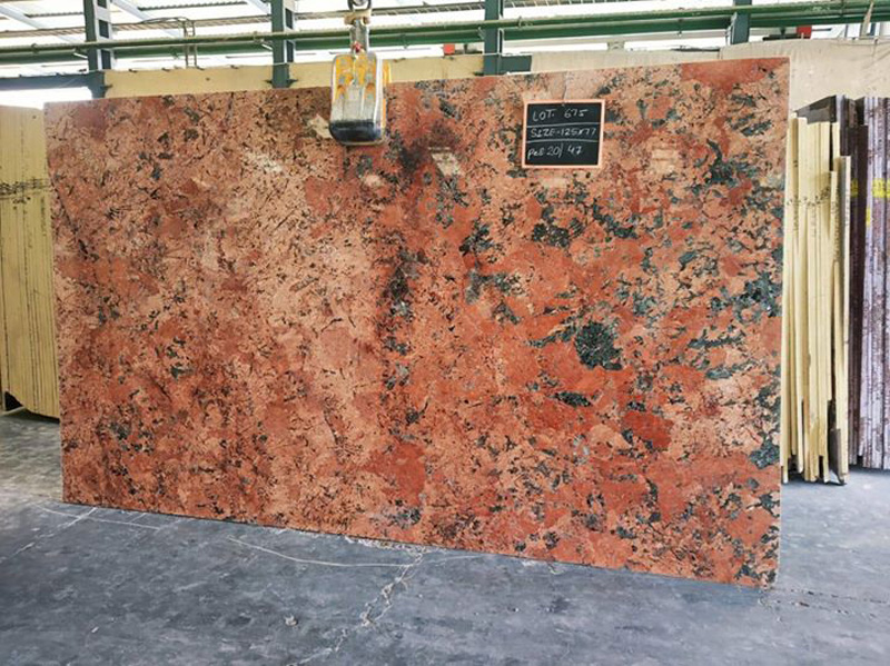 Polished Red Granite Slabs Alaska Red Granite
