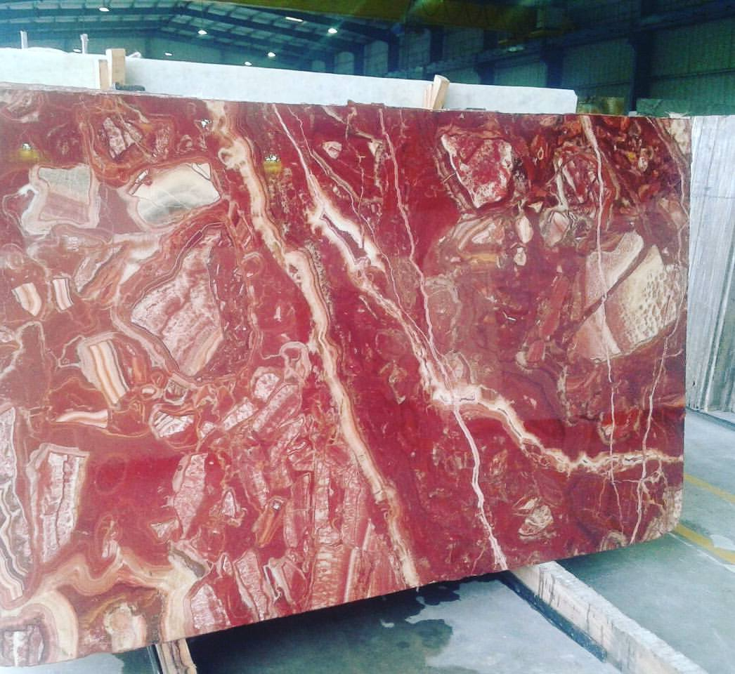 Polished Red Onyx Slabs from India Supplier