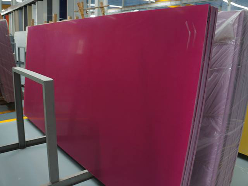 Polished Red Quartz Slabs from Chinese Supplier