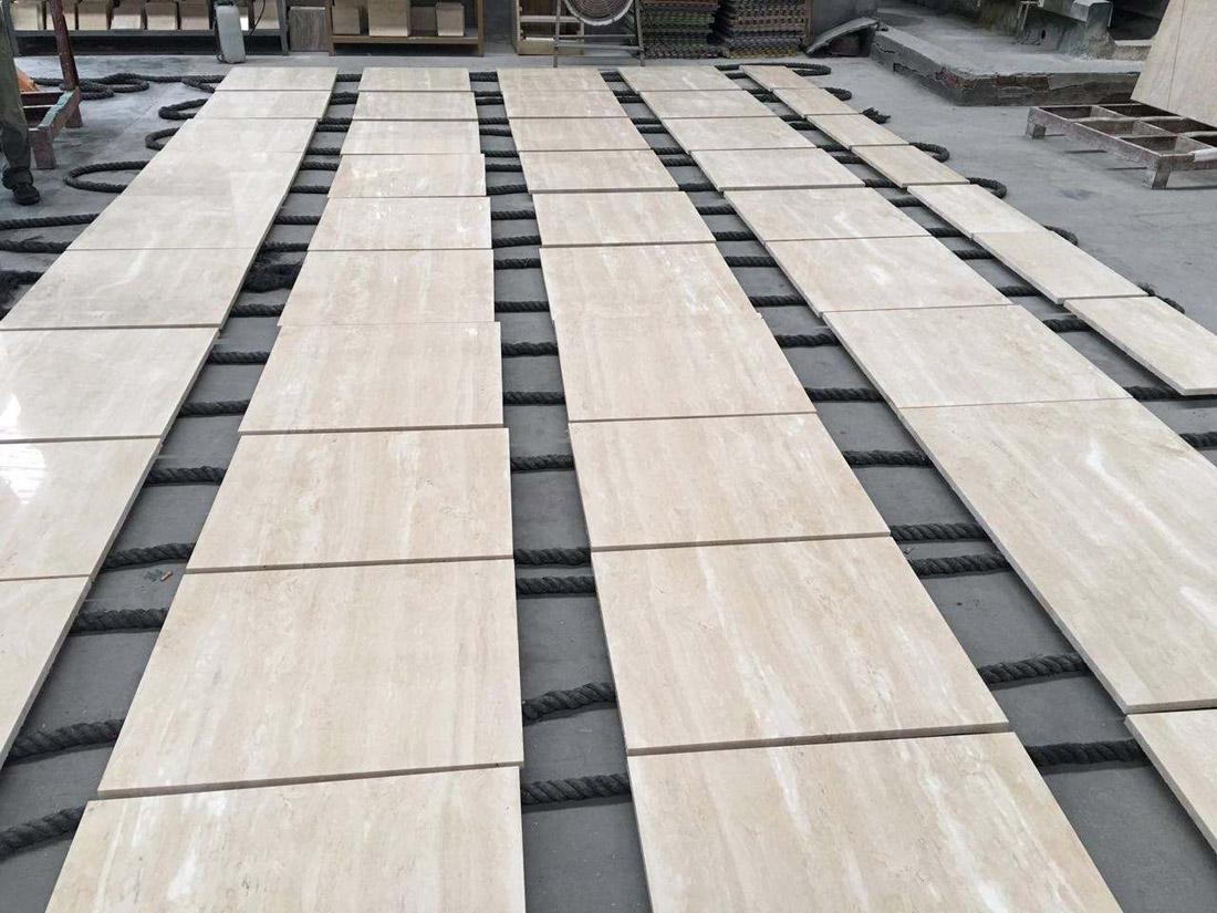Polished Roman Travertine Beige Travertine Stone Tiles
