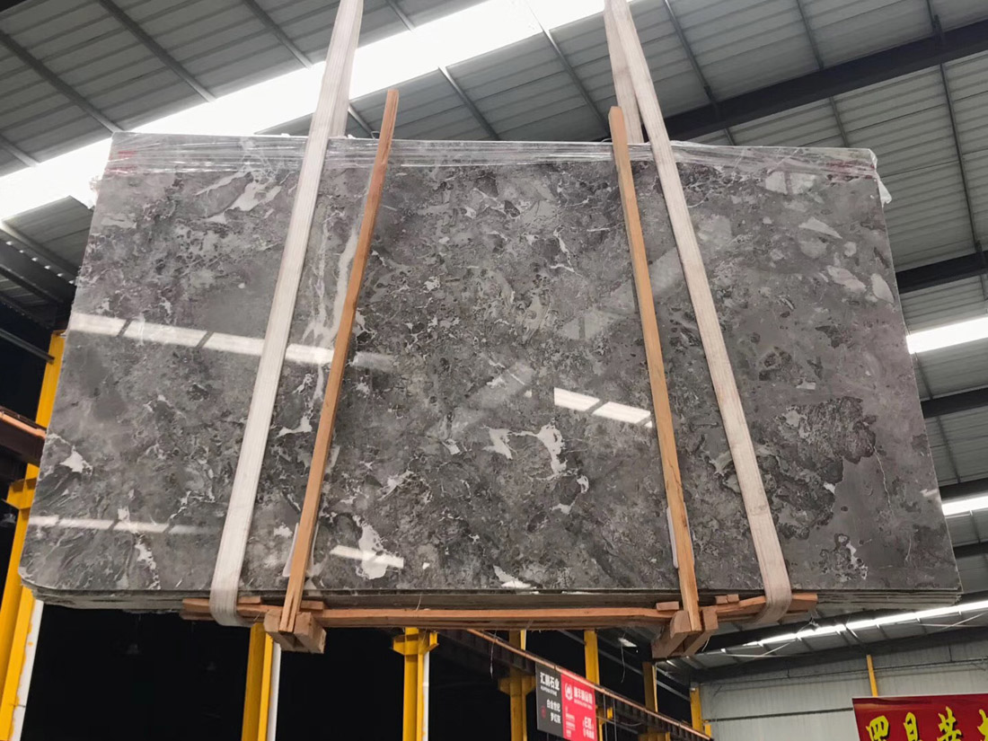 Polished Romantic Grey Marble Slabs