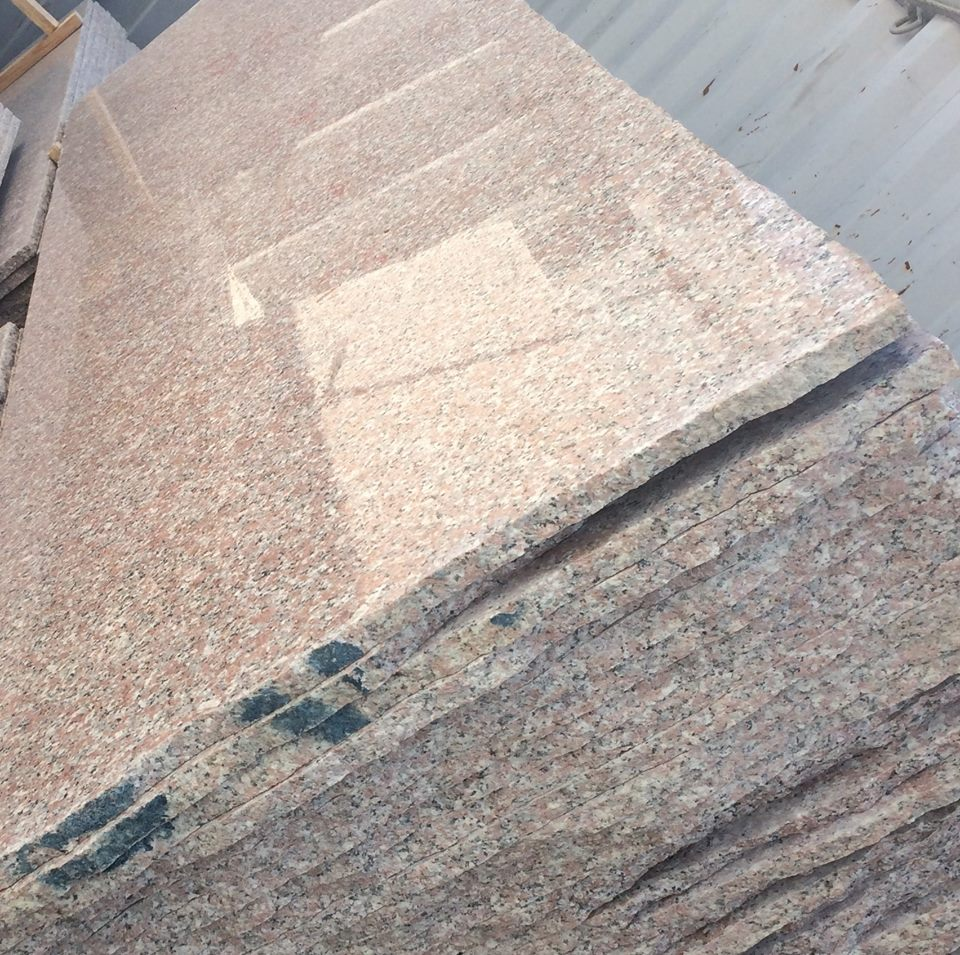 Polished Rose El Naser Pink Granite Slabs