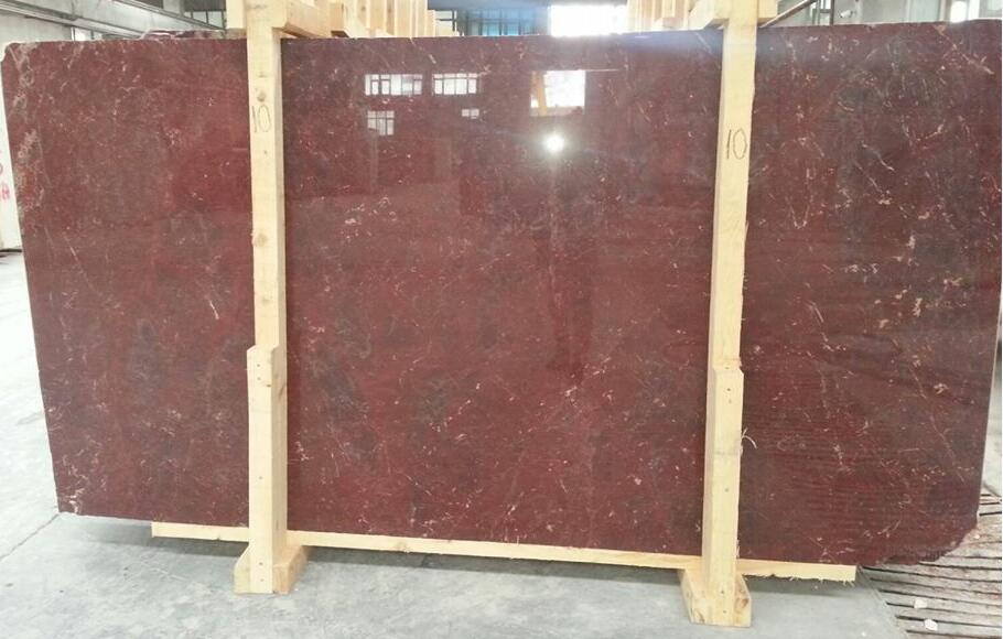 Polished Rosso Anatolico Slabs Red Marble Stone Slabs