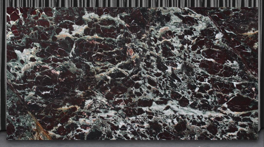 Polished Rosso Fiorentino Red Granite Slabs for Countertops