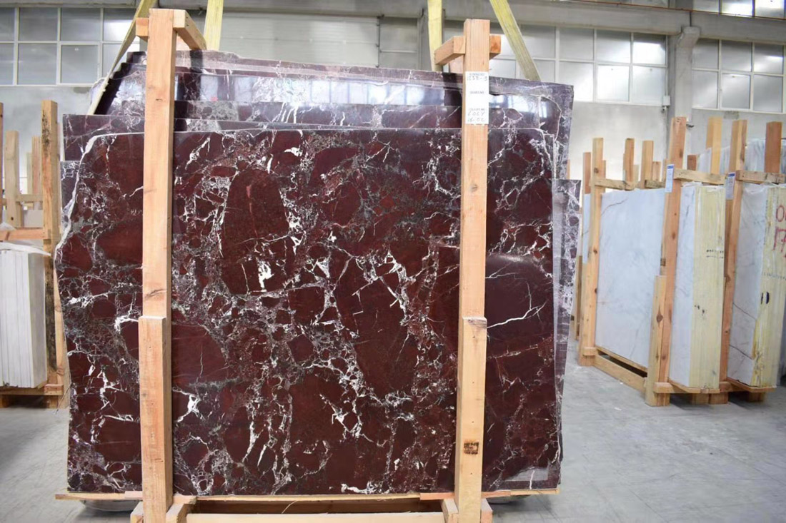Polished Rosso Levanto Slabs Red Marble Stone Slabs