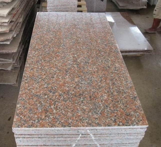Polished Shidao Red Granite Tiles
