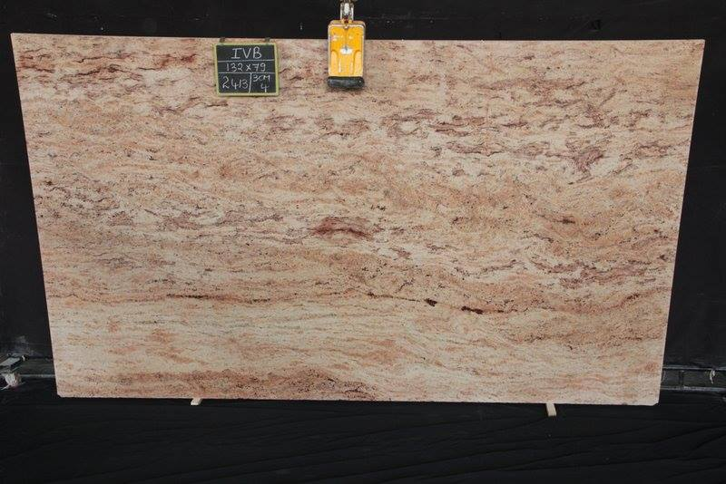 Polished Shivakashi Ivory Granite Slabs from India