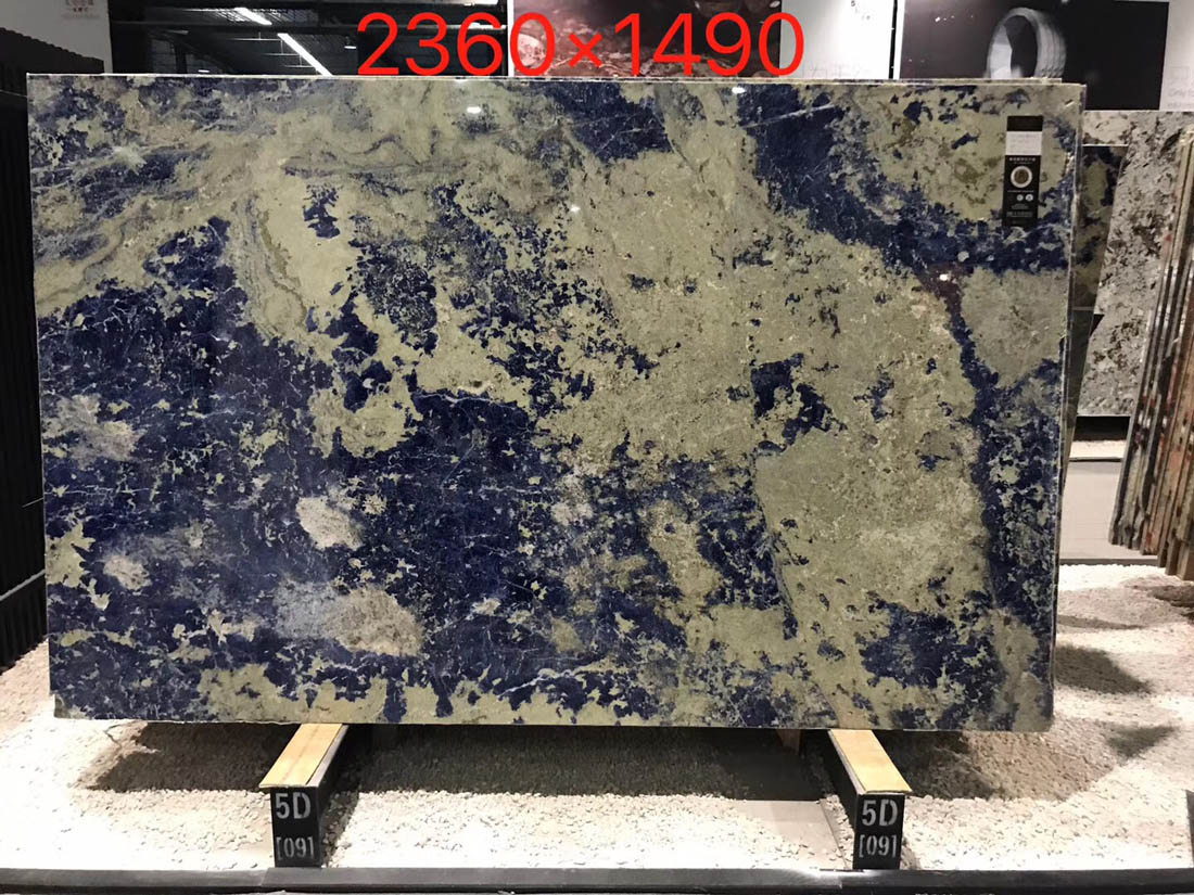 Polished Sodalite Blue Bolivia Blue Granite Slabs