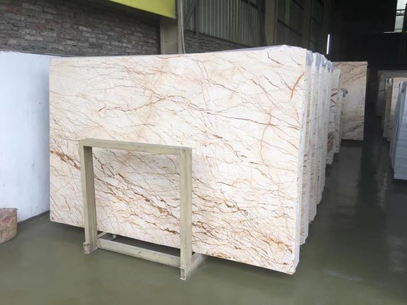 Polished Sofita Beige Natural Marble Slabs