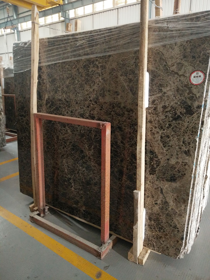Polished Spain Dark Emperador Marble Slabs