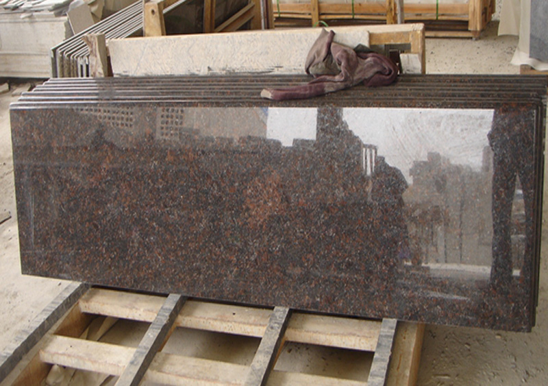 Polished Tan Brown Granite Countertops for Bathroom