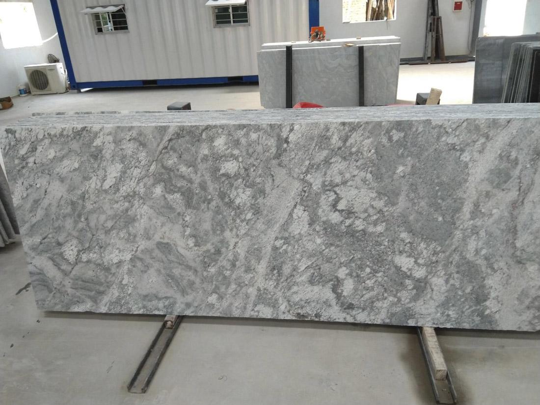 Polished Thunder White Granite Slab