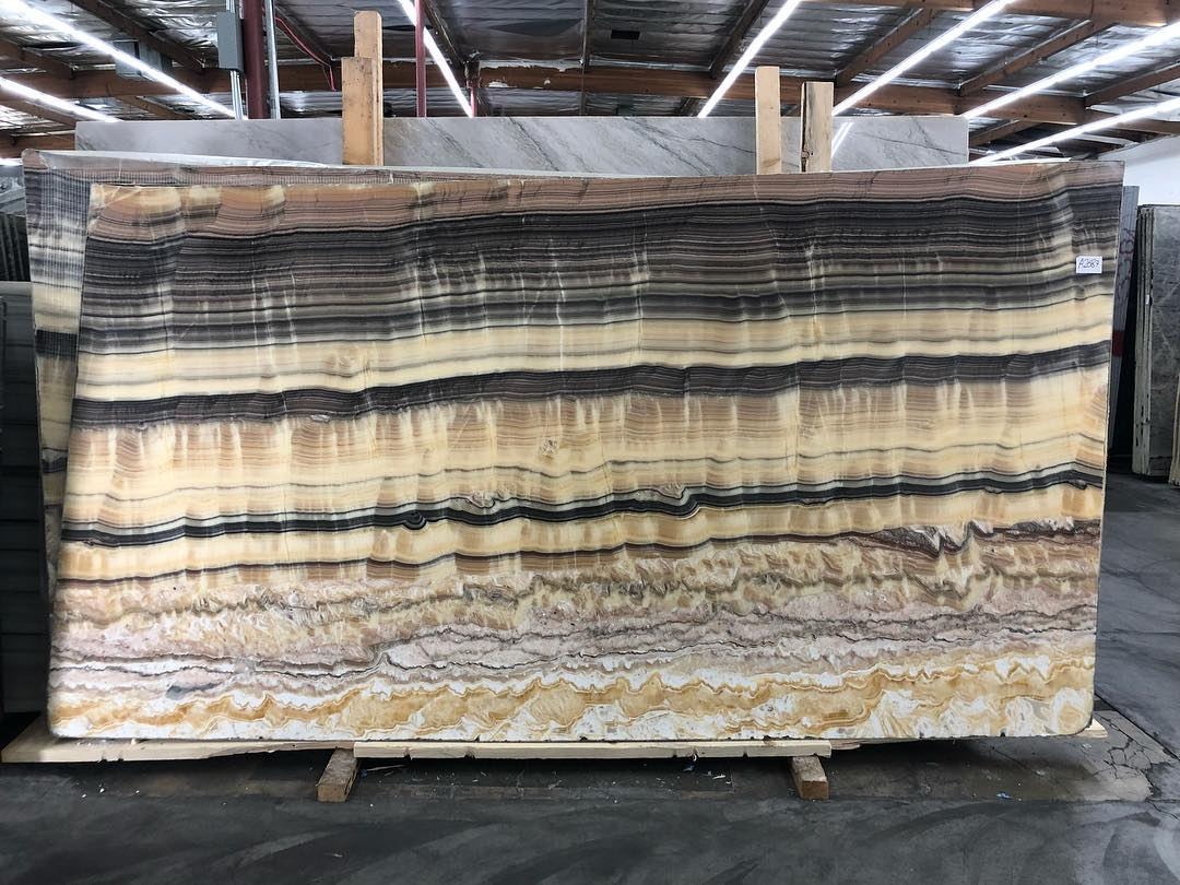 Polished Tiger Onyx Slabs with High Quality