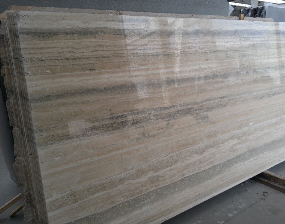 Polished Travertine Slabs Italian Silver Travertino Slabs