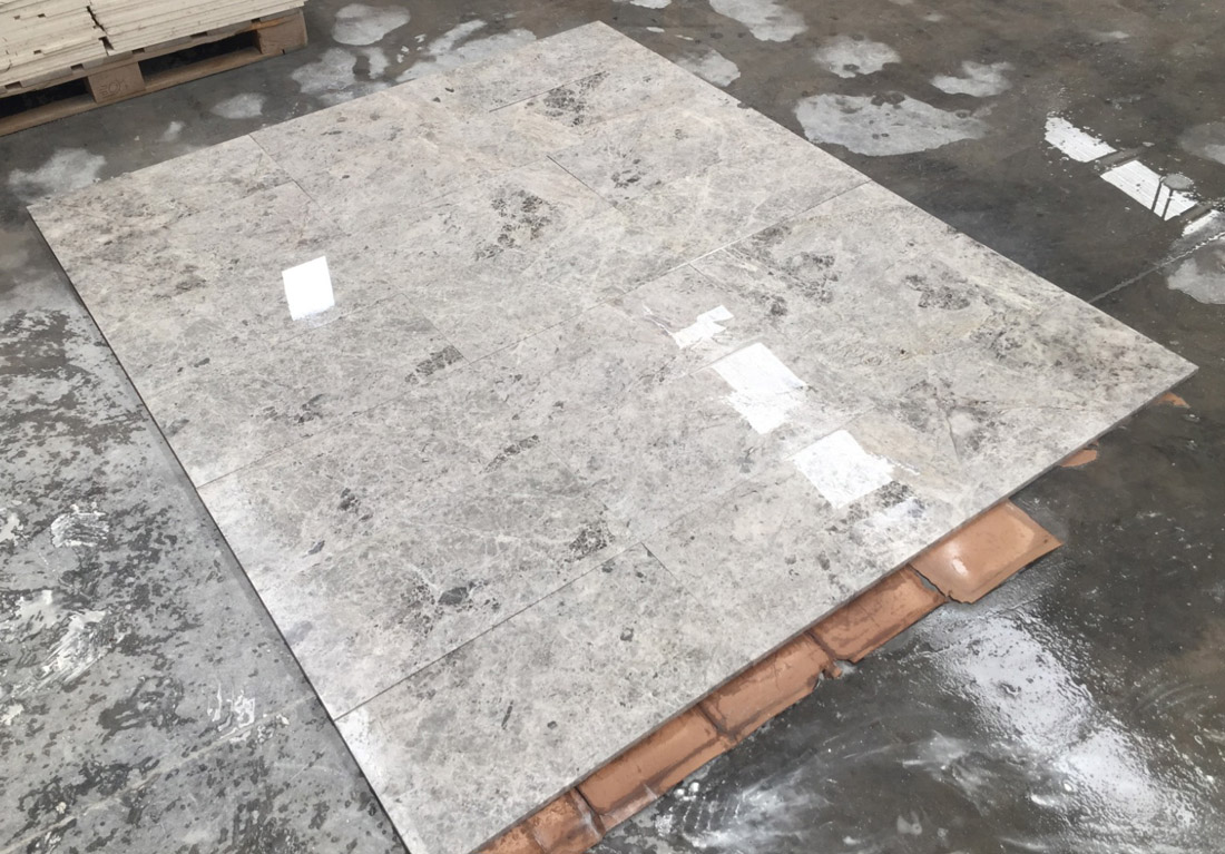 Polished Tundra Grey Marble Tiles Turkish Grey Marble Tiles for Flooring